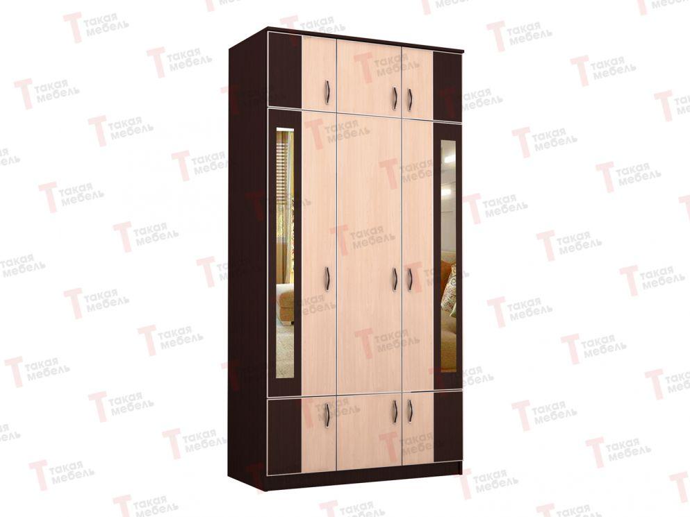 """Шкаф распашной трехстворчатый с зеркалом """"тк-19""""."""